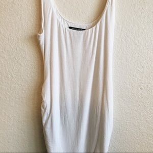 A Pea in the Pod White Maternity Long Tank/Tunic